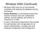 windows 2000 continued