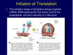 initiation of translation