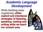 academic language development