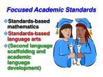 focused academic standards