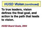 husd vision continued