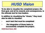husd vision