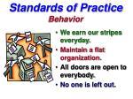standards of practice behavior