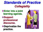 standards of practice collegiality