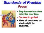 standards of practice focus
