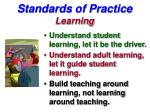 standards of practice learning