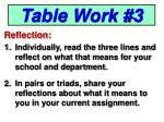 table work 3