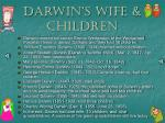 darwin s wife children