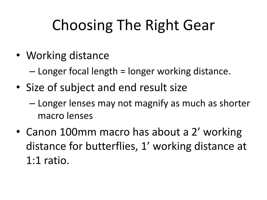 Choosing The Right Gear