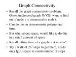graph connectivity