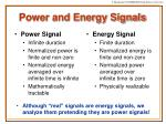 power and energy signals