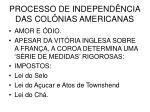 processo de independ ncia das col nias americanas