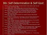 bib self determination self govt