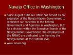 navajo office in washington