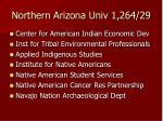 northern arizona univ 1 264 29