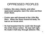 oppressed peoples