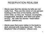 reservation realism