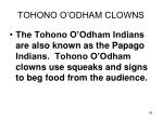 tohono o odham clowns