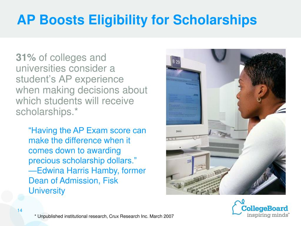 AP Boosts Eligibility for Scholarships