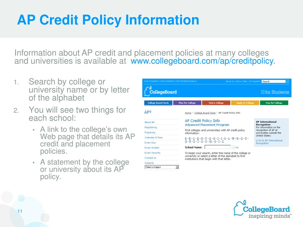 AP Credit Policy Information