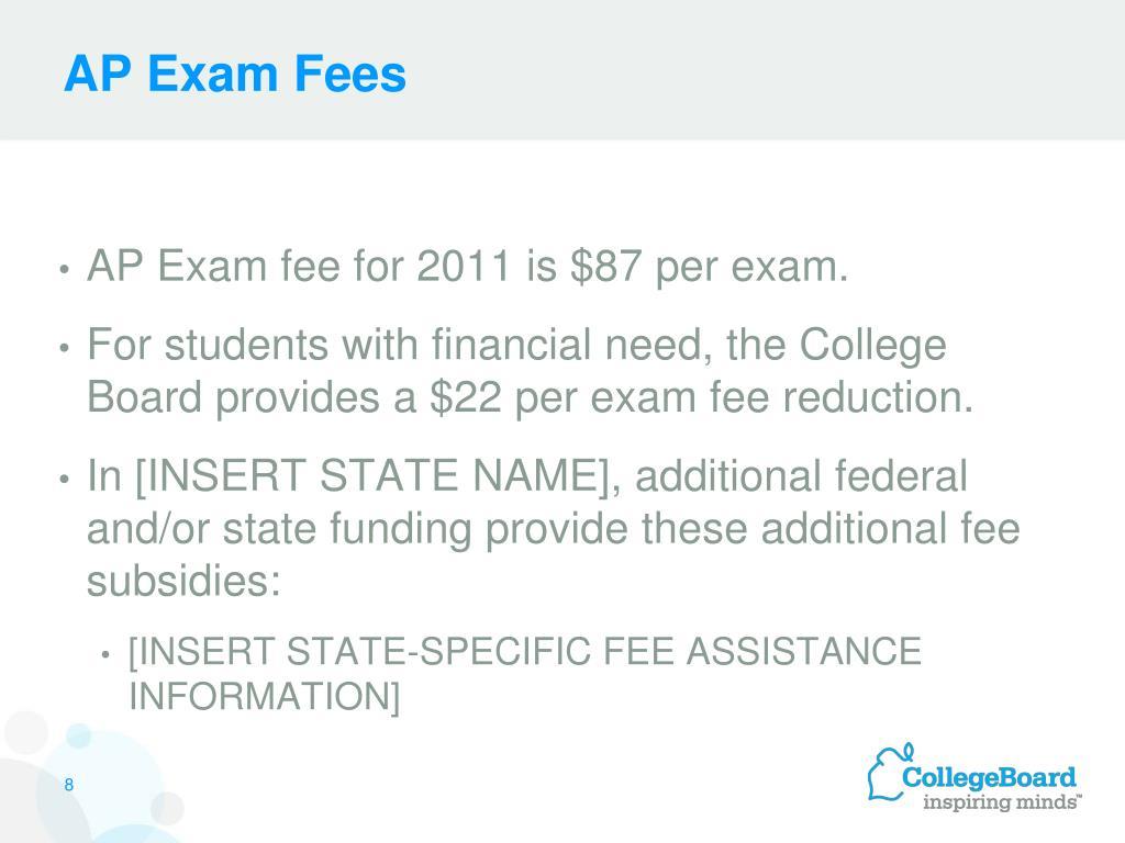 AP Exam Fees