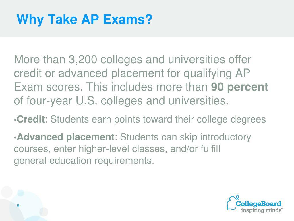 Why Take AP Exams?