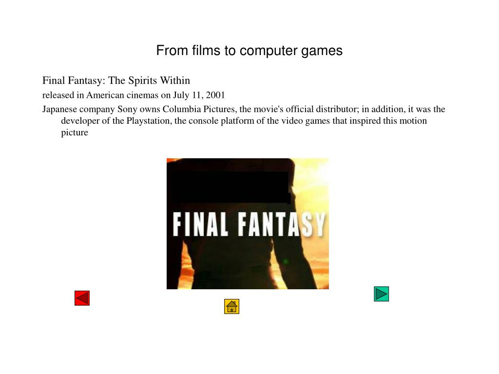 From films to computer games