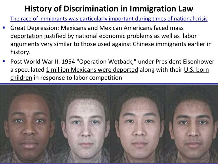 History of Discrimination in Immigration Law