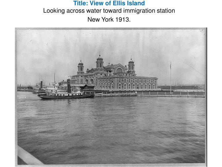 Title: View of Ellis Island