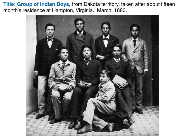 Title: Group of Indian Boys,