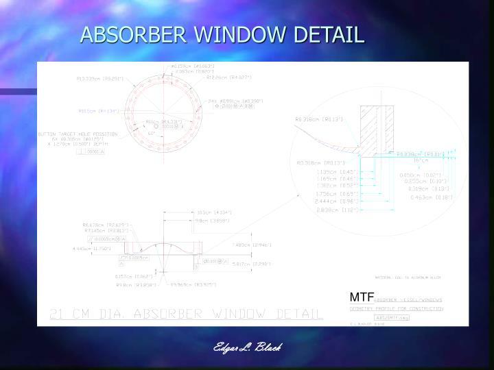 ABSORBER WINDOW DETAIL