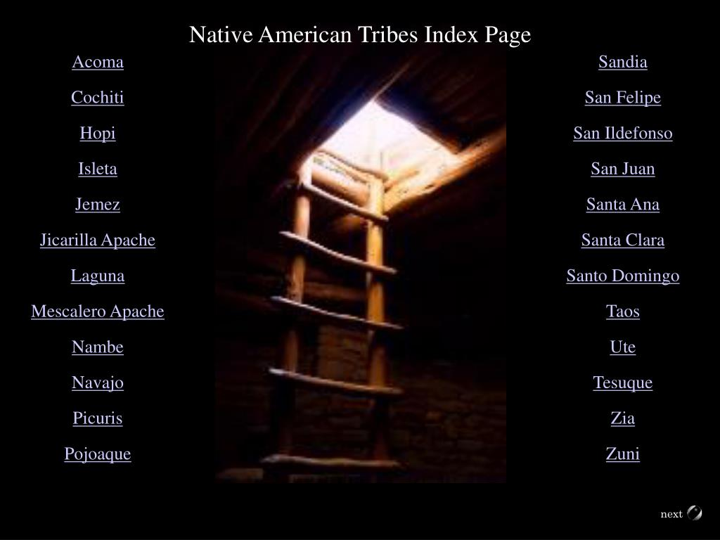 Native American Tribes Index Page