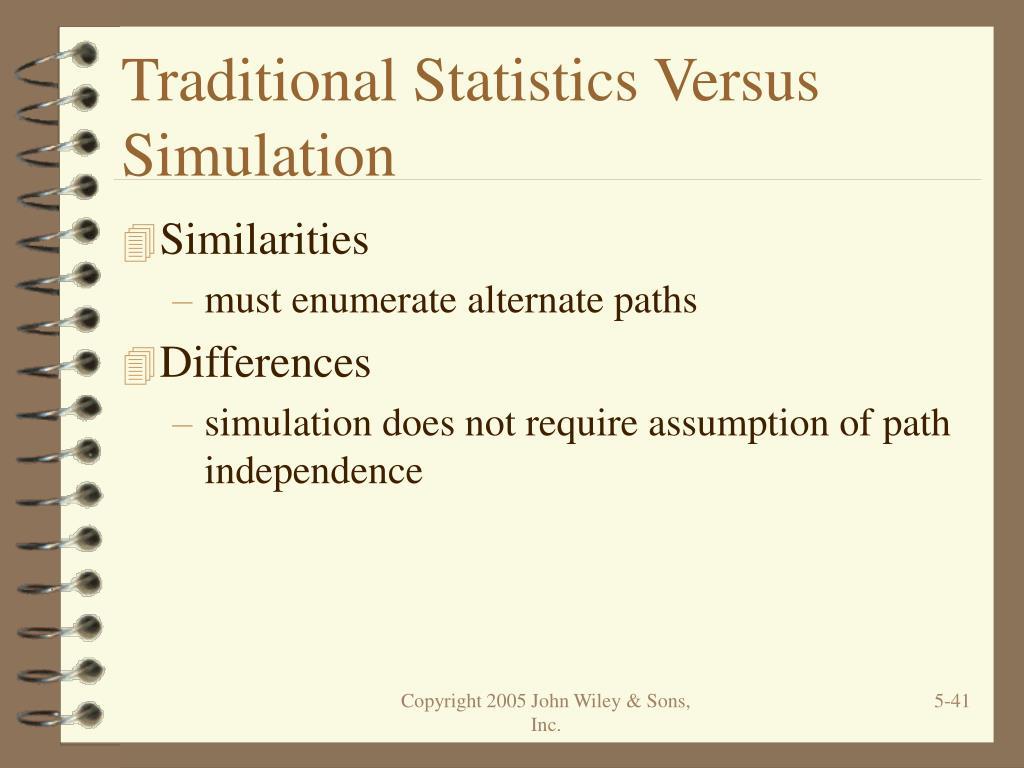 Traditional Statistics Versus Simulation