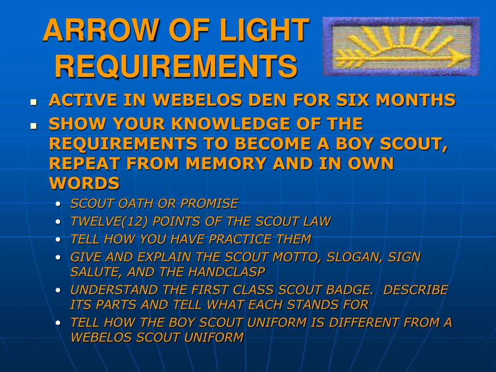 arrow of light requirements l.