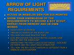 arrow of light requirements