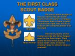 the first class scout badge