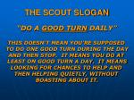 the scout slogan