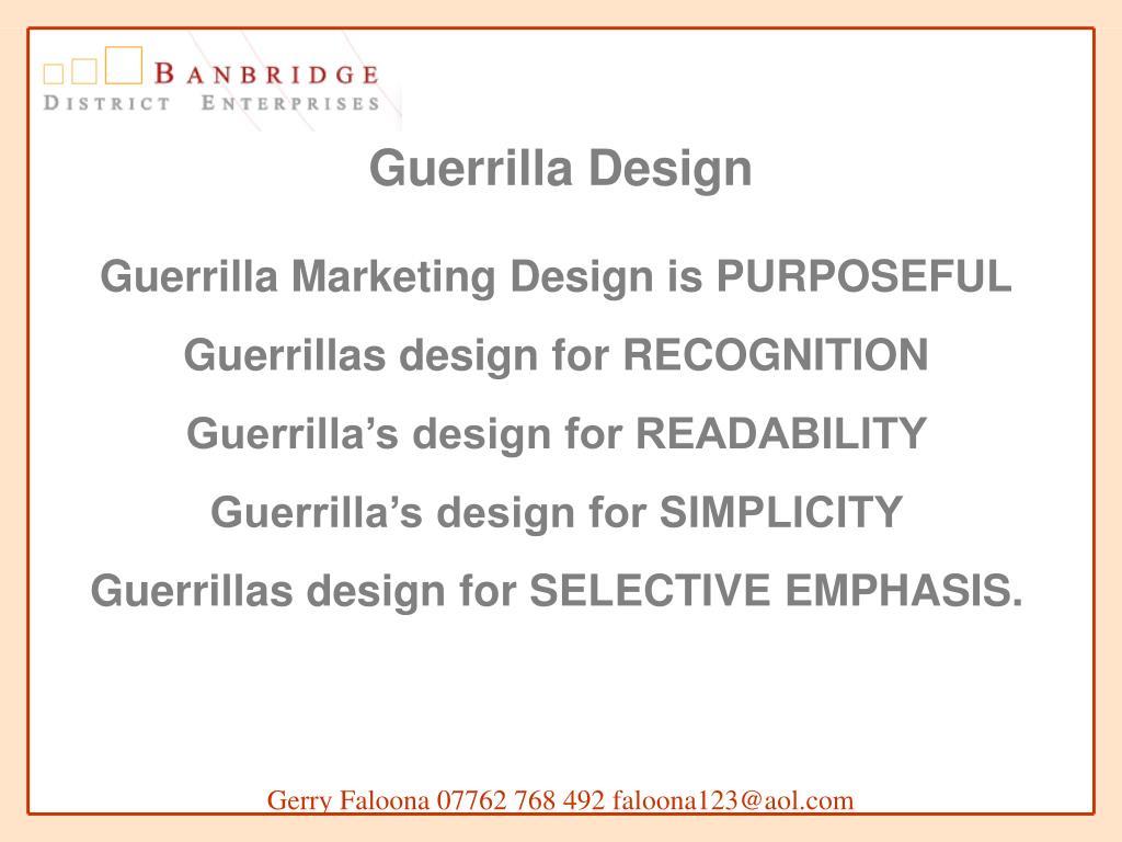 Guerrilla Design