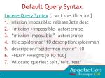 default query syntax