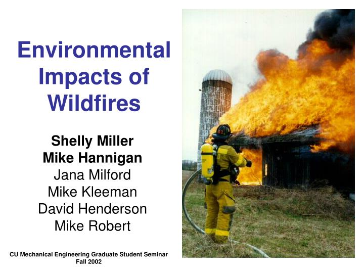 environmental impacts of wildfires n.
