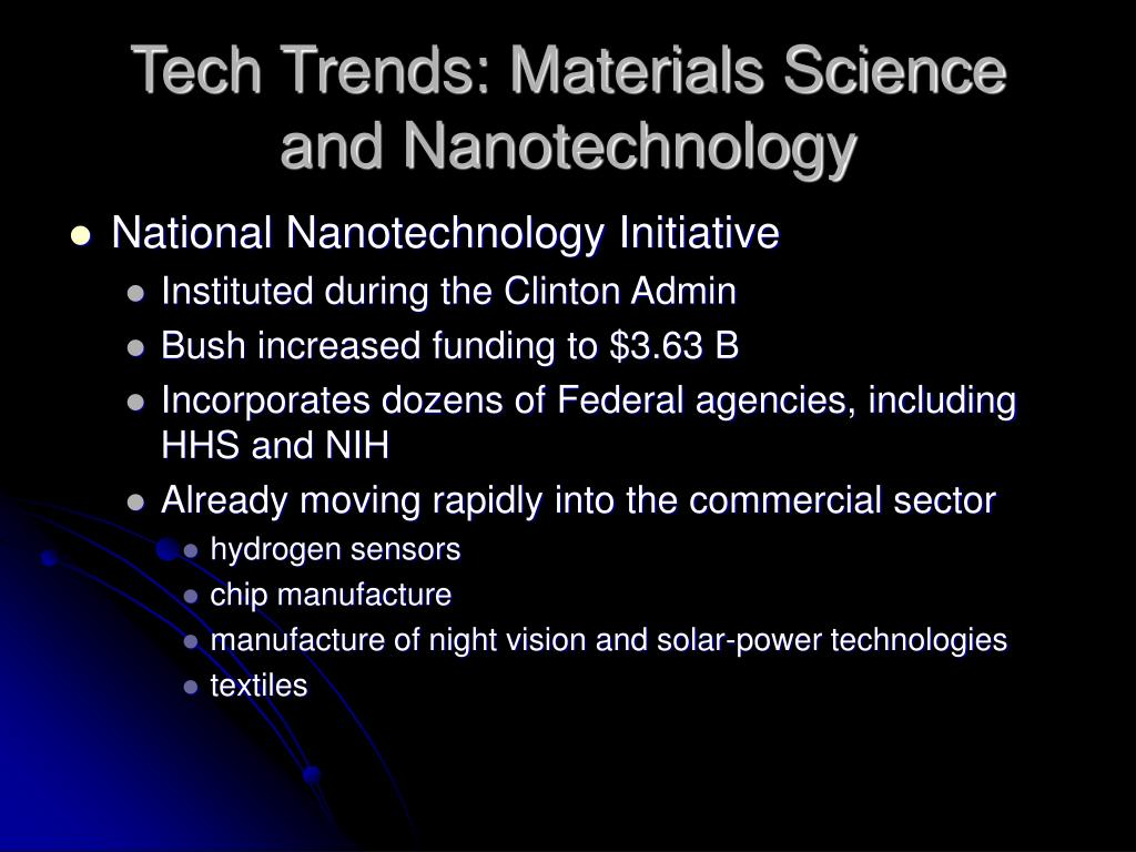 Tech Trends: Materials Science and Nanotechnology