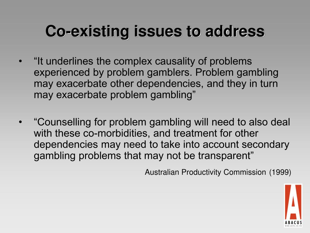 Co-existing issues to address