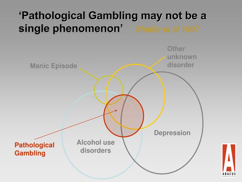 'Pathological Gambling may not be a single phenomenon'