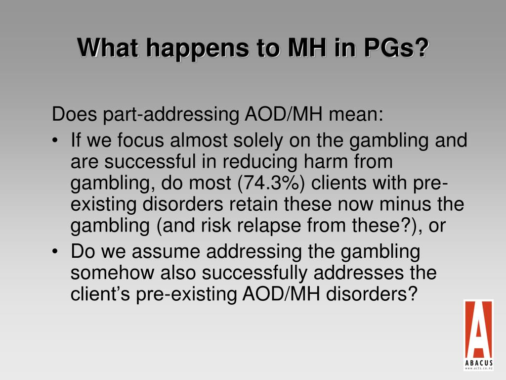 What happens to MH in PGs?