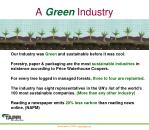 a green industry