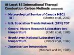 at least 15 international thermal combustion carbon methods continued