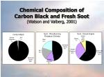chemical composition of carbon black and fresh soot watson and valberg 2001