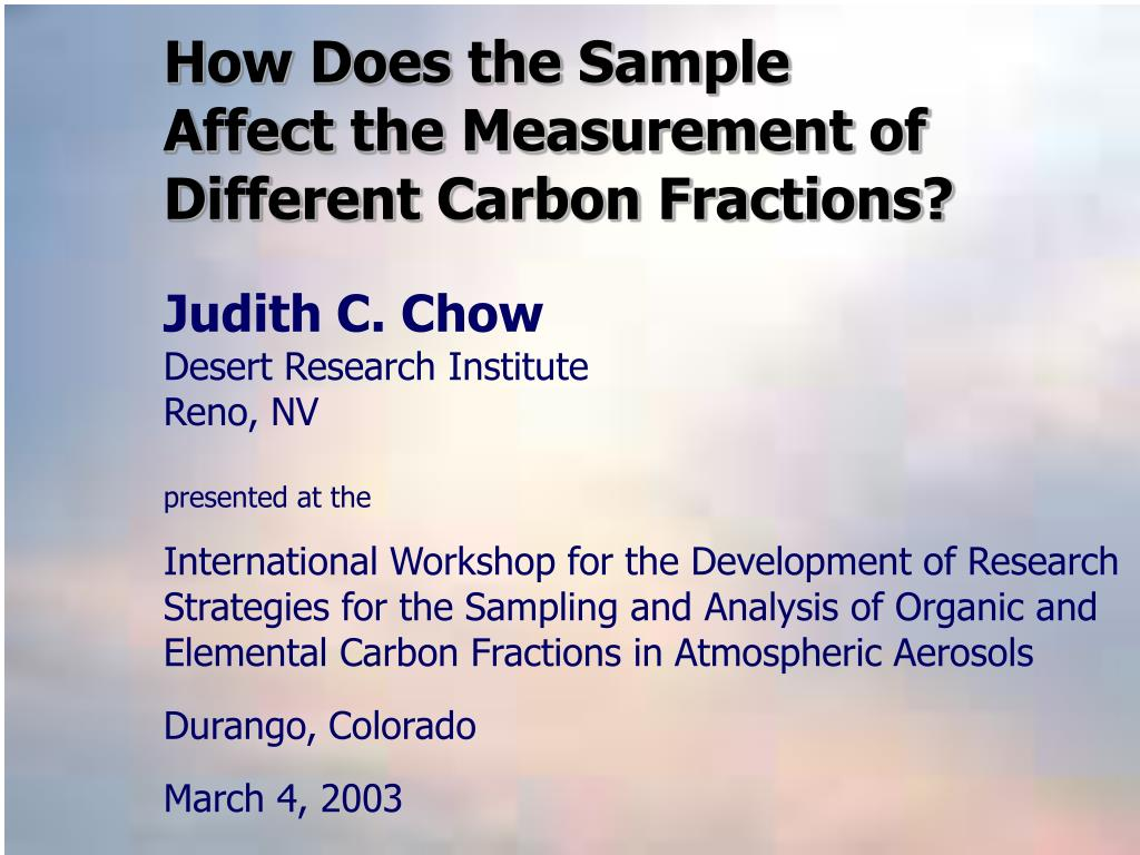 how does the sample affect the measurement of different carbon fractions l.