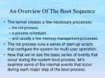 an overview of the boot sequence5