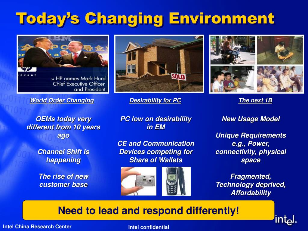 Today's Changing Environment